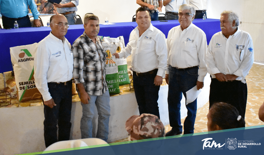 Government of Tamaulipas delivers 11.9 tons of certified seed to producers of Soto La Marina and Casas