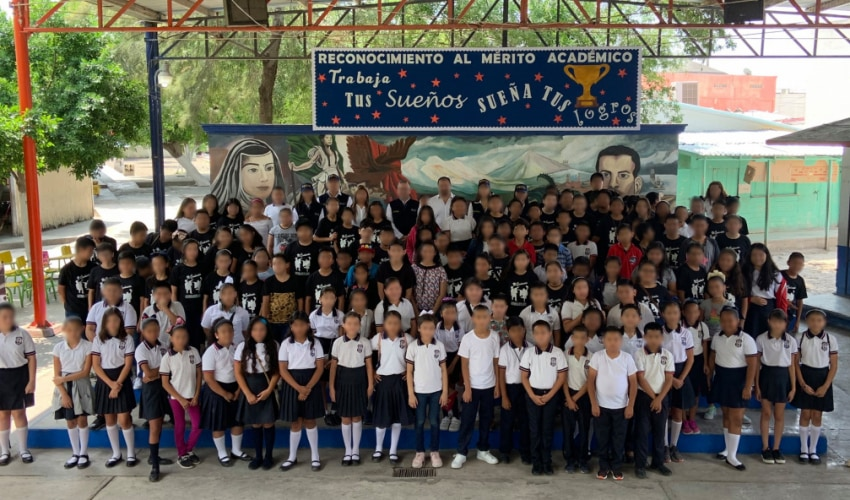 Campaign «Disarming Corruption» at the Ramón Lopez Velarde Primary School in Matamoros