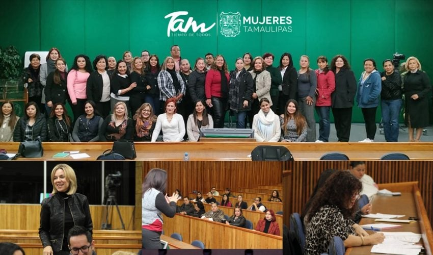 Train Directors of the Municipal Instances of Women in Tamaulipas.