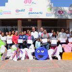 "RECEIVE COURSE-WORKSHOP ""ELABORATION OF PIÑATAS"" WIVES OF FISHERMEN."