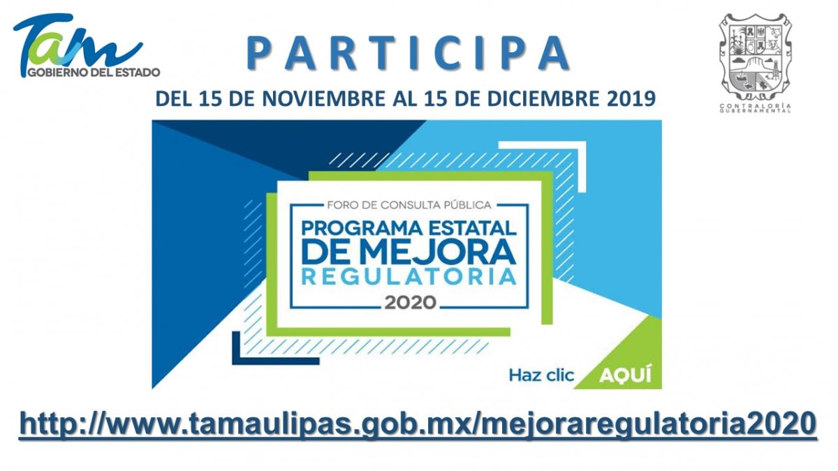 Programas de Mejora Regulatoria 2020