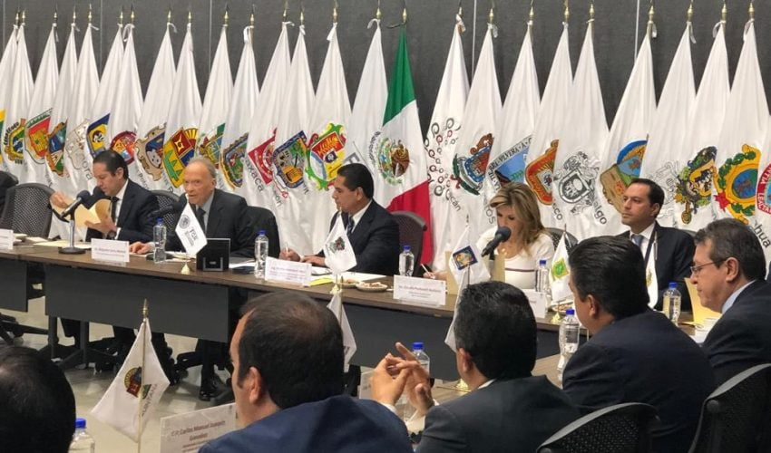 Governor of Tamaulipas exposed problematic by arms trafficking in CONAGO-FGR meeting