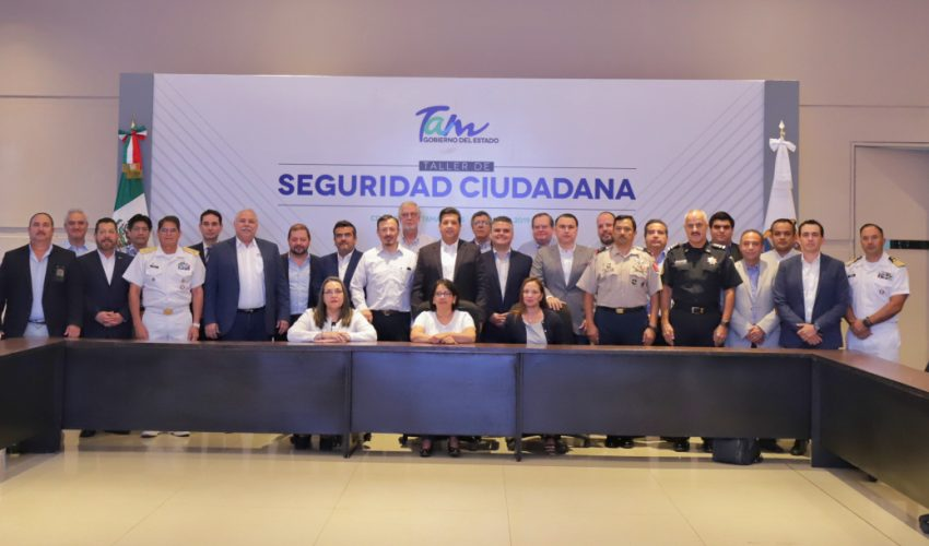 Government of Tamaulipas, Federal Forces and Citizen Tables define actions of security and justice