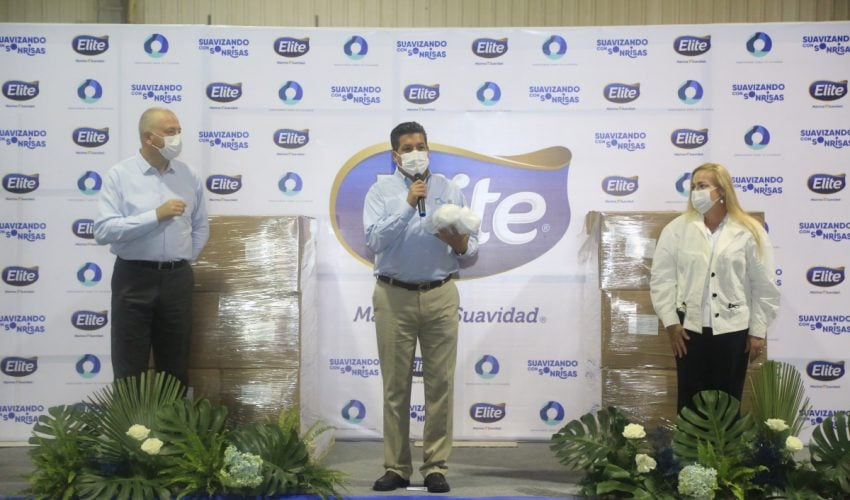 The Government of Tamaulipas receives 450 face masks.